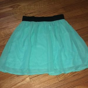 Mint color skirt